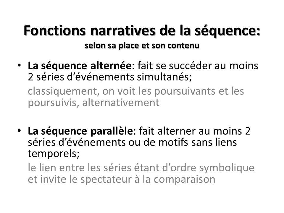 Les différentes unités cinématographiques une séquence: ensemble autonome de plans, formant un tout du point de vue de lintrigue.