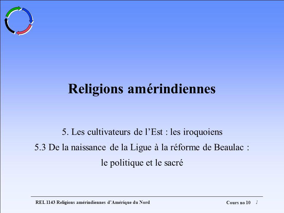 REL 1143 Religions amérindiennes dAmérique du Nord1 Cours no 10 Religions amérindiennes 5.