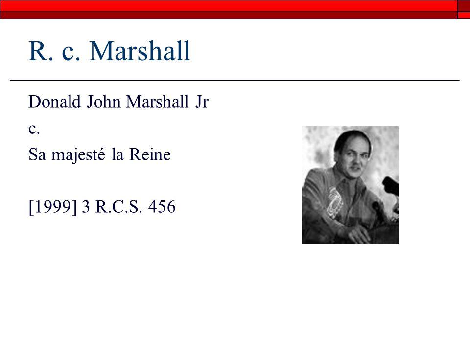 R. c. Marshall Donald John Marshall Jr c. Sa majesté la Reine [1999] 3 R.C.S. 456