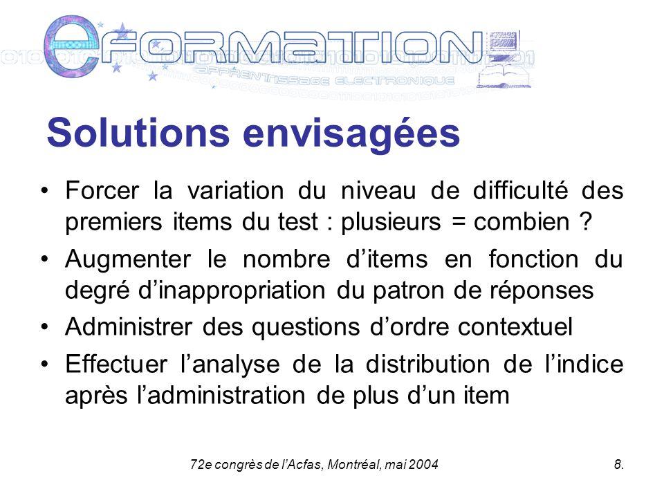 72e congrès de lAcfas, Montréal, mai 20048.