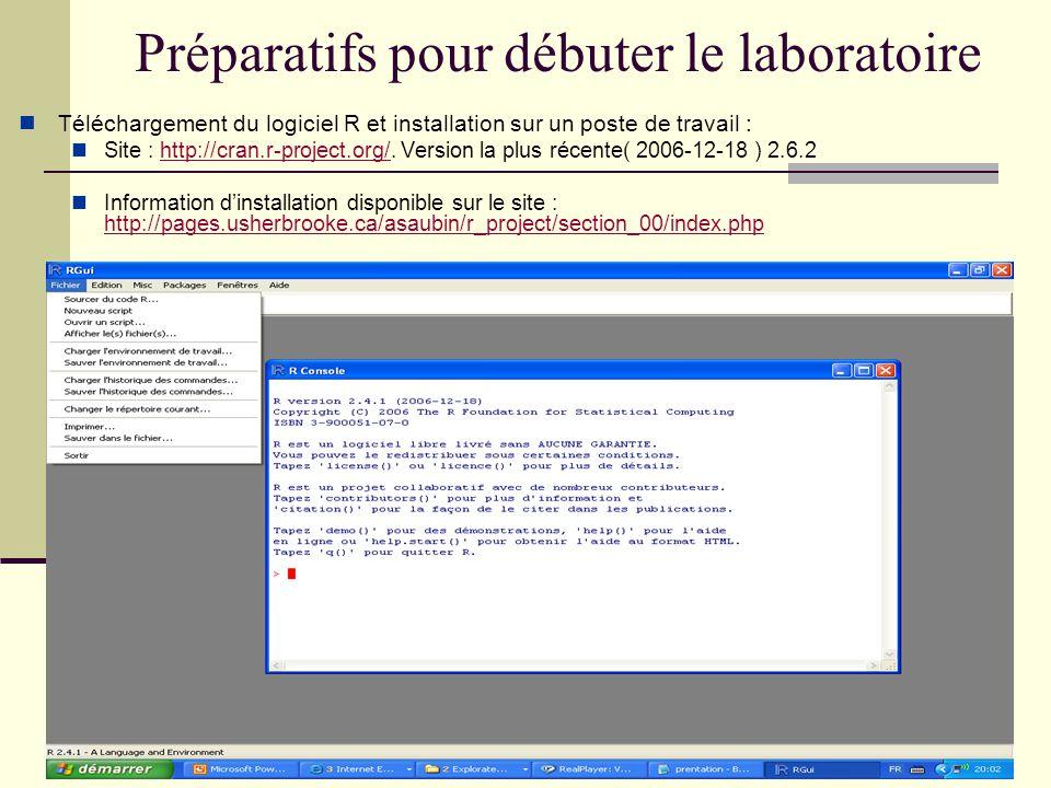 Sauvegarde des résultats Sauvegarde des résultats (output) texte : Sélectionner la sortie désirée Edition Copier; ensuite coller dans le document voulu.