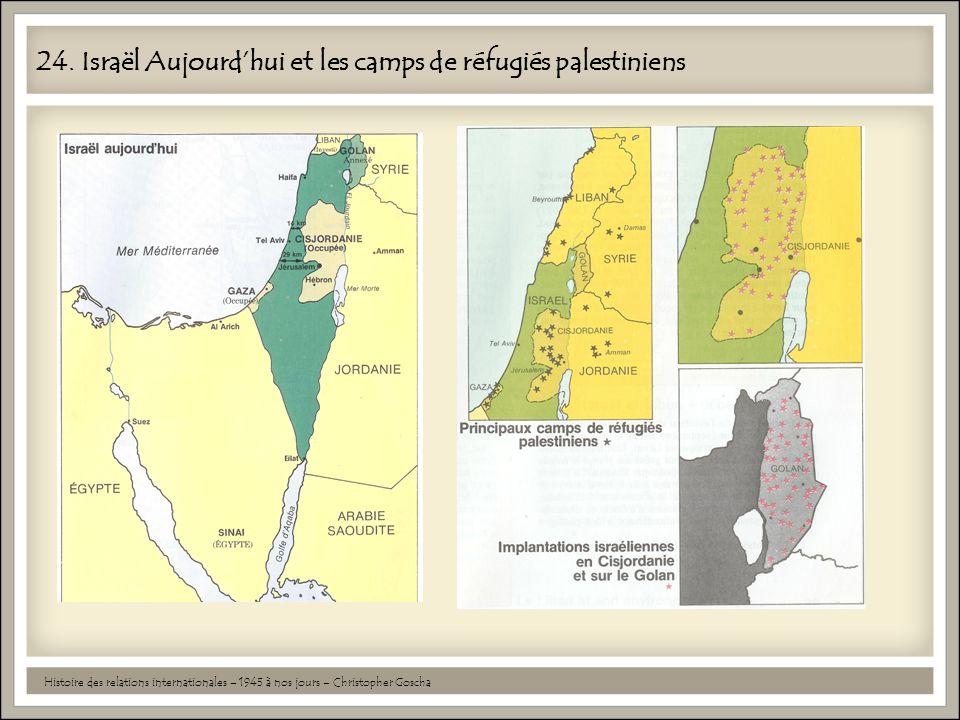 24. Israël Aujourdhui et les camps de réfugiés palestiniens Histoire des relations internationales – 1945 à nos jours – Christopher Goscha