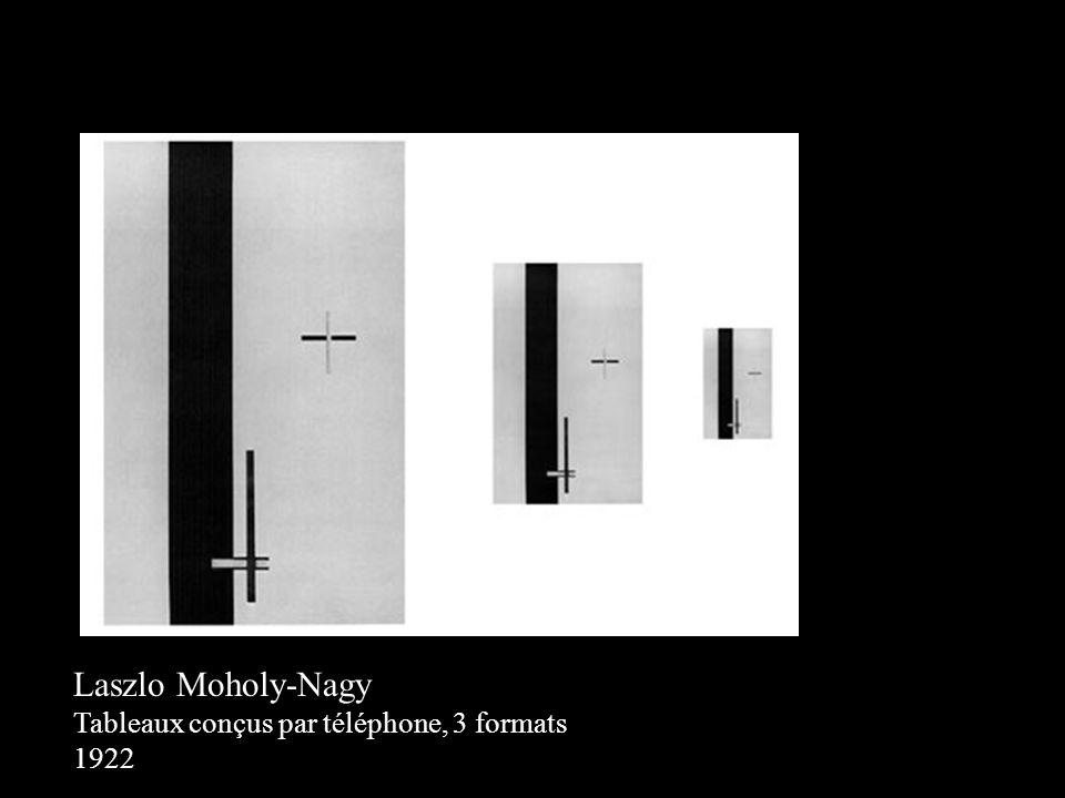 Laszlo Moholy-Nagy Tableaux conçus par téléphone, 3 formats 1922