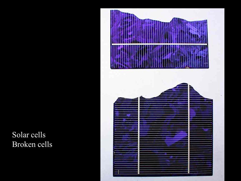 Solar cells Broken cells