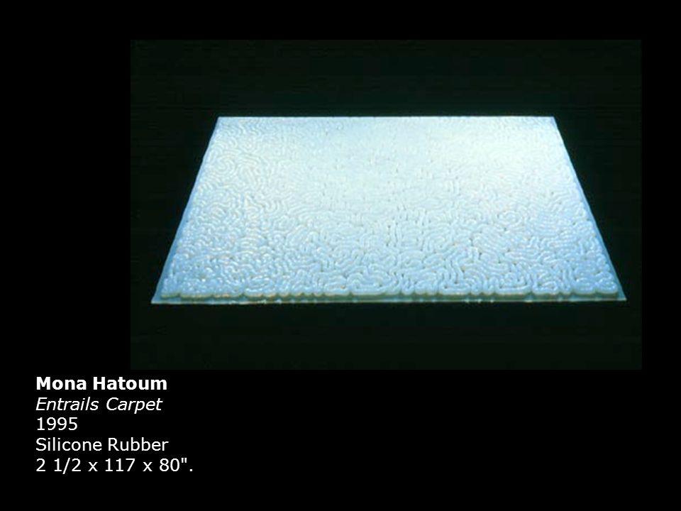 Mona Hatoum Entrails Carpet 1995 Silicone Rubber 2 1/2 x 117 x 80