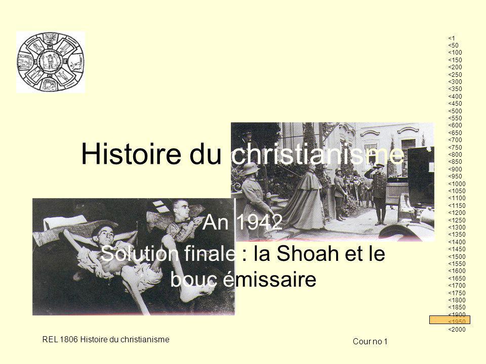 Cour no 1 REL 1806 Histoire du christianismeLouis Rousseau 12 Le Juif : bouc émissaire des chrétiens .