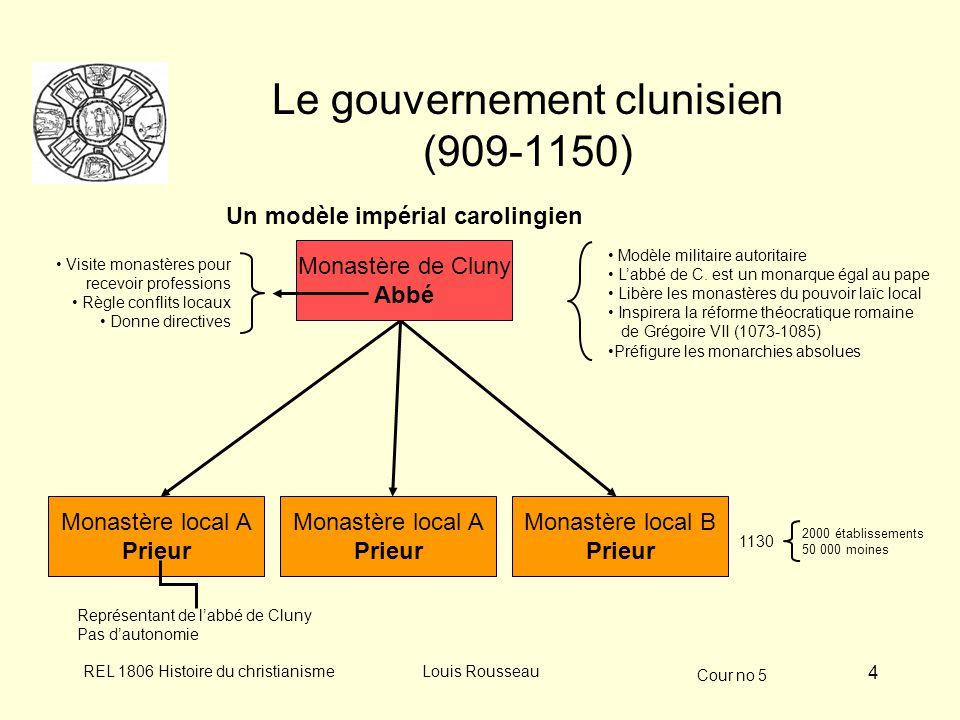Cour no 5 REL 1806 Histoire du christianismeLouis Rousseau 5 Abbaye de Cluny