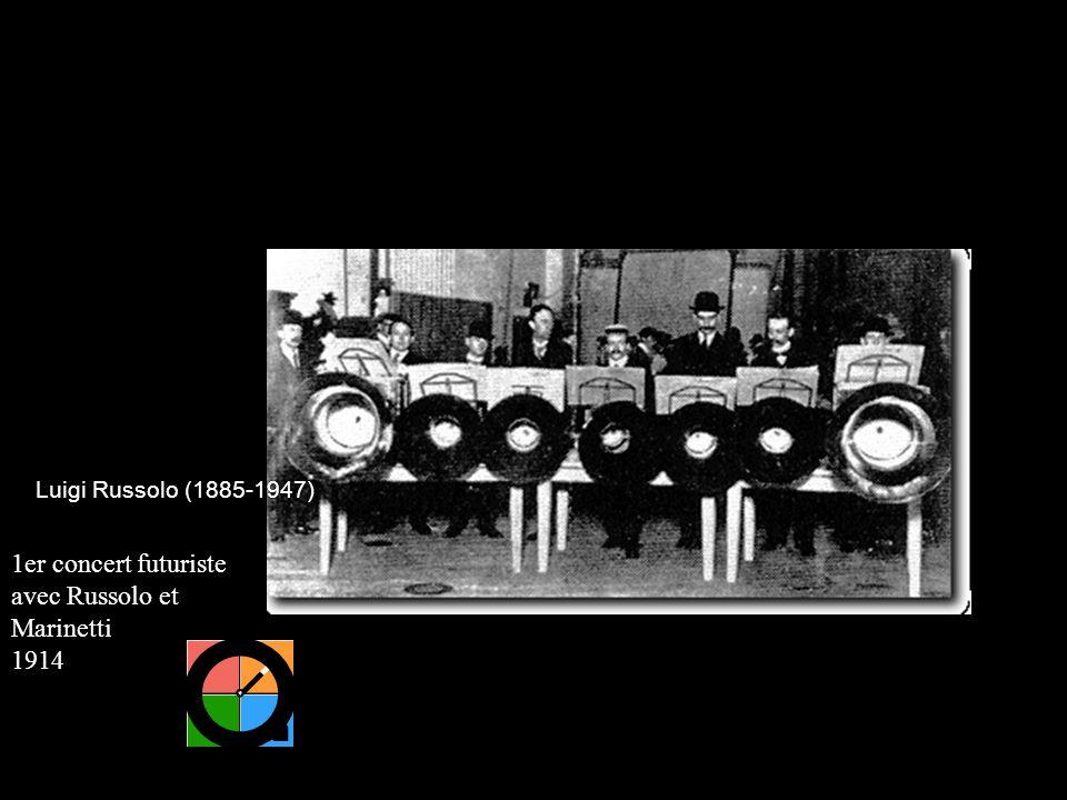 1er concert futuriste avec Russolo et Marinetti 1914 Luigi Russolo (1885-1947)