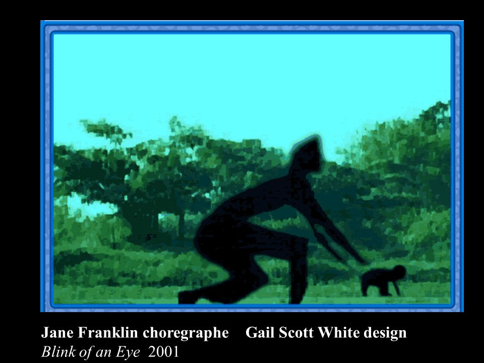 Jane Franklin choregraphe Gail Scott White design Blink of an Eye 2001