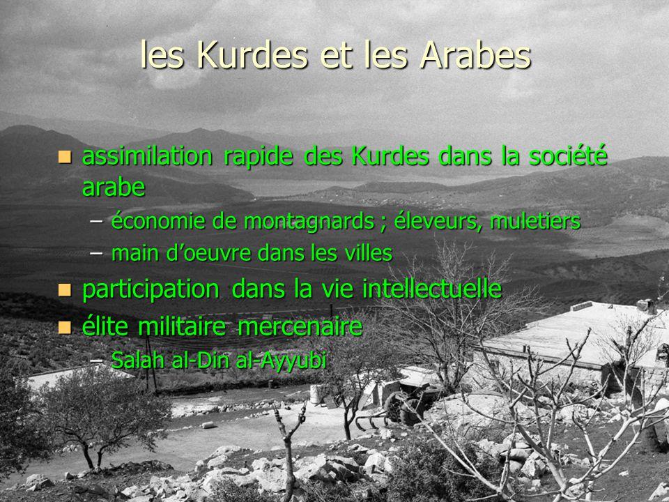 les Kurdes et les Arabes assimilation rapide des Kurdes dans la société arabe assimilation rapide des Kurdes dans la société arabe –économie de montag