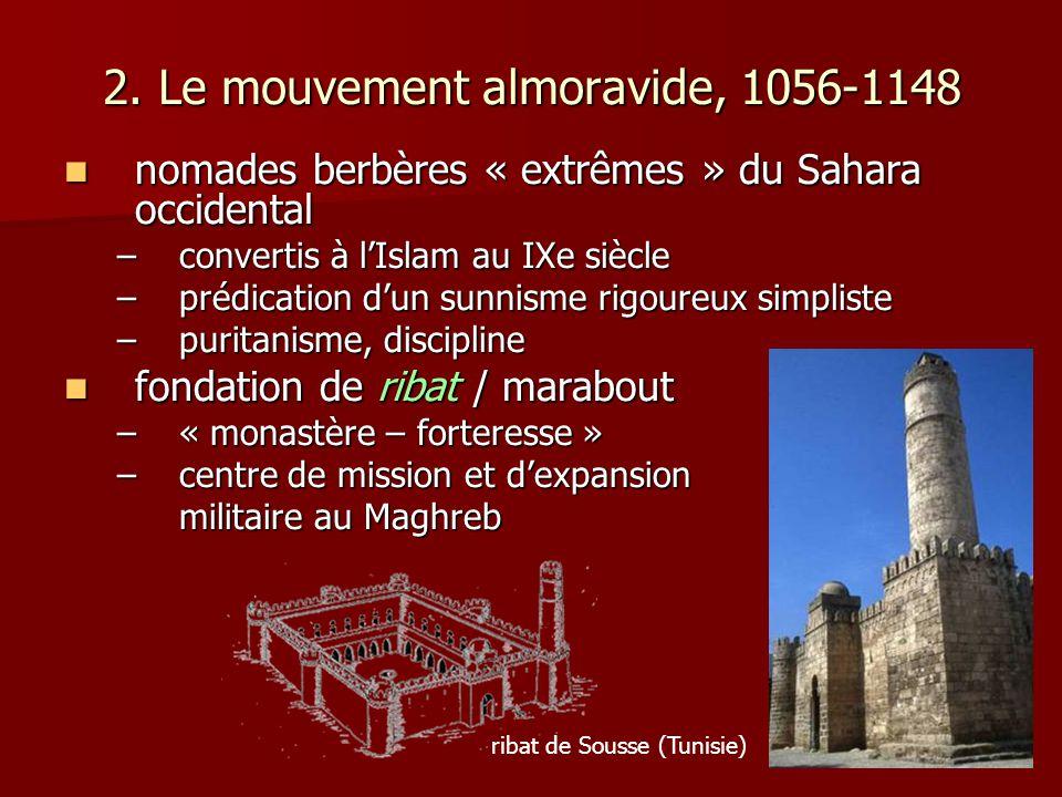 2. Le mouvement almoravide, 1056-1148 nomades berbères « extrêmes » du Sahara occidental nomades berbères « extrêmes » du Sahara occidental –convertis
