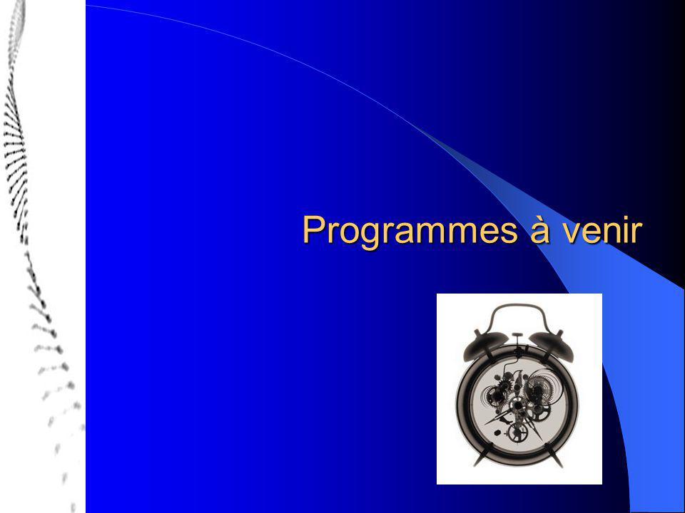 Programmes à venir