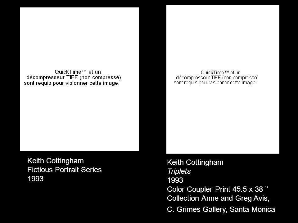 Keith Cottingham Triplets 1993 Color Coupler Print 45.5 x 38 Collection Anne and Greg Avis, C.