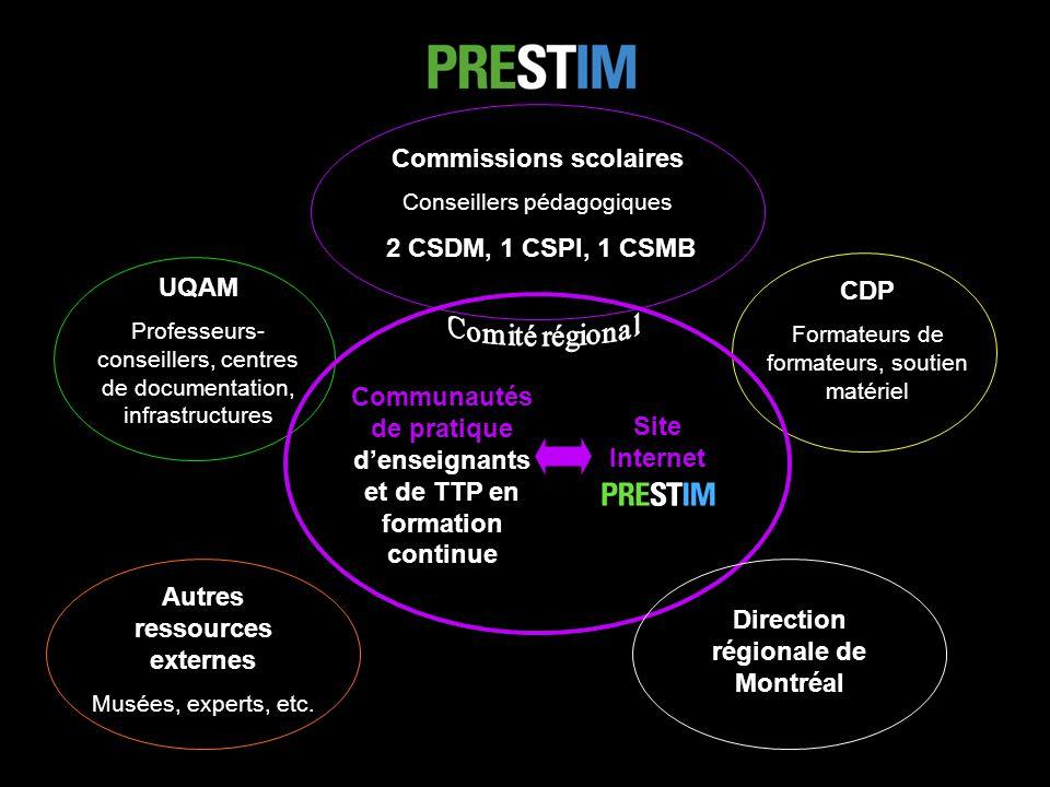 Communautés de pratique denseignants et de TTP en formation continue UQAM Professeurs- conseillers, centres de documentation, infrastructures CDP Form
