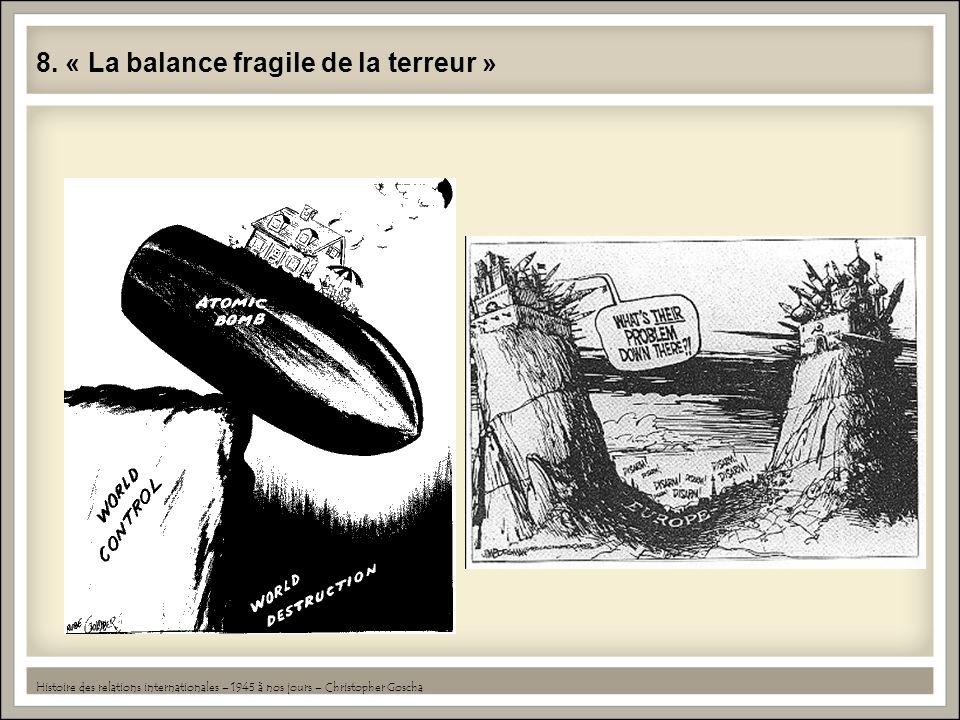 8. « La balance fragile de la terreur » Histoire des relations internationales – 1945 à nos jours – Christopher Goscha