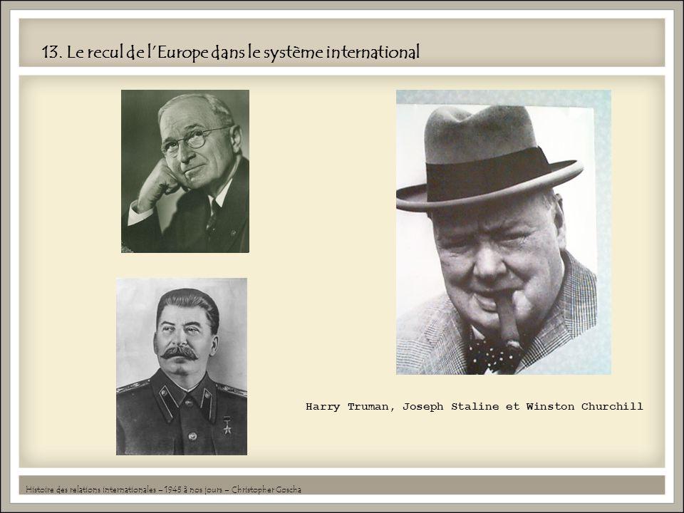 13. Le recul de lEurope dans le système international Histoire des relations internationales – 1945 à nos jours – Christopher Goscha Harry Truman, Jos