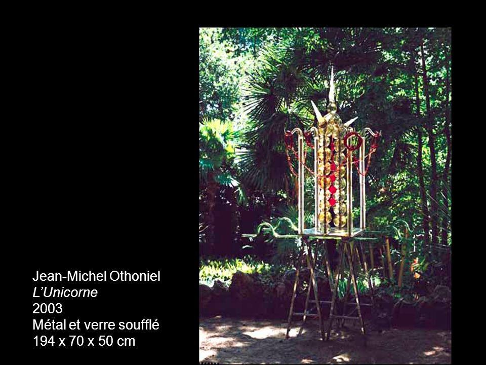 Jean-Michel Othoniel LUnicorne 2003 Métal et verre soufflé 194 x 70 x 50 cm