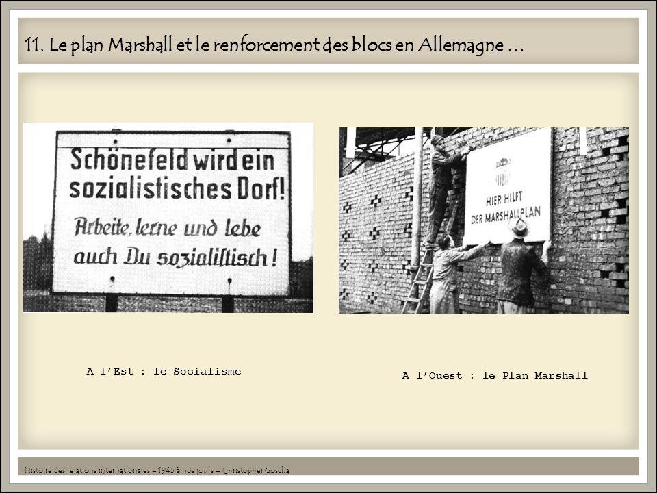 11. Le plan Marshall et le renforcement des blocs en Allemagne … Histoire des relations internationales – 1945 à nos jours – Christopher Goscha A lEst