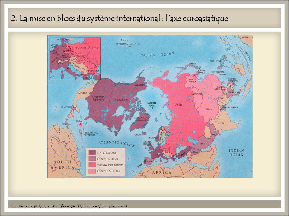 2. La mise en blocs du système international : laxe euroasiatique Histoire des relations internationales – 1945 à nos jours – Christopher Goscha