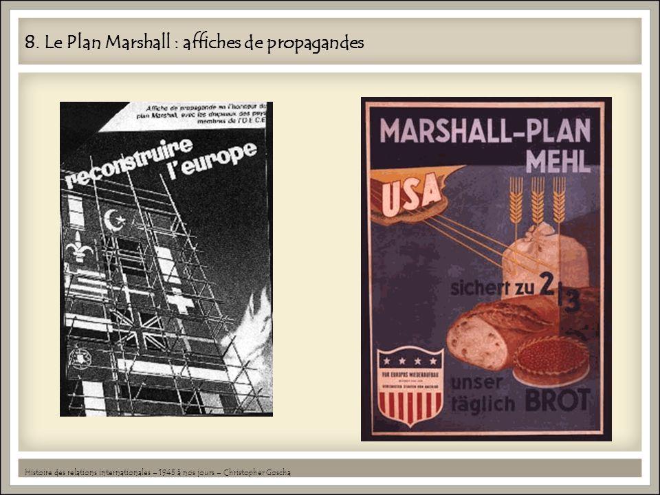 8. Le Plan Marshall : affiches de propagandes Histoire des relations internationales – 1945 à nos jours – Christopher Goscha