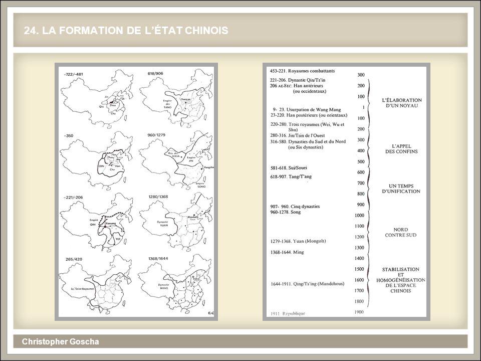 Christopher Goscha 24. LA FORMATION DE LÉTAT CHINOIS