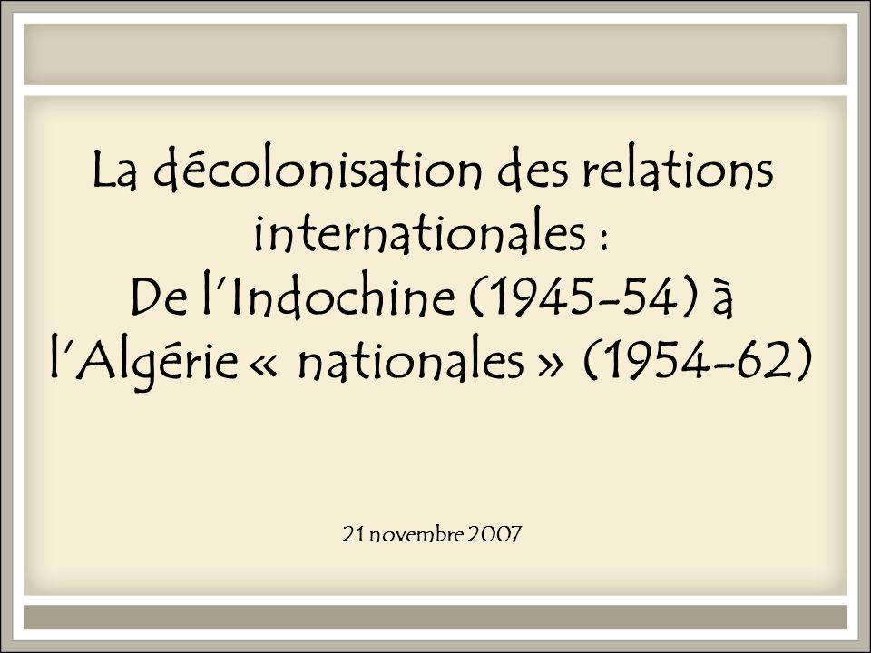 2. De la colonisation à la décolonisation du « Sud »