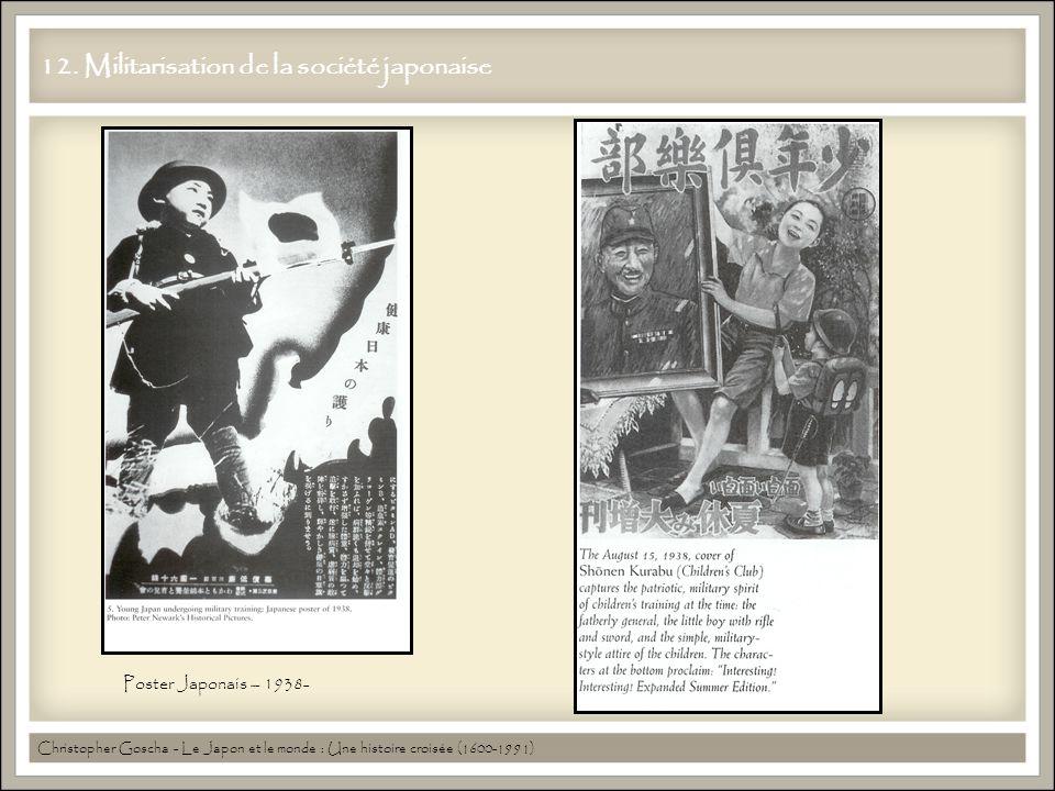 12. Militarisation de la société japonaise Christopher Goscha - Le Japon et le monde : Une histoire croisée (1600-1991) Poster Japonais – 1938-
