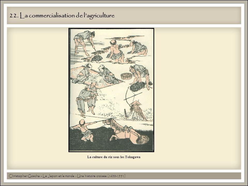 22. La commercialisation de lagriculture La culture du riz sous les Tokugawa Christopher Goscha - Le Japon et le monde : Une histoire croisée (1600-19