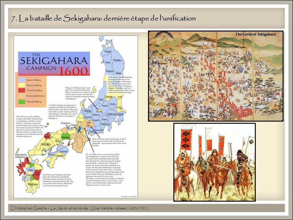 7. La bataille de Sekigahara: dernière étape de lunification Christopher Goscha - Le Japon et le monde : Une histoire croisée (1600-1991)