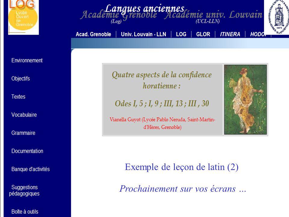 HELIOS CNARELA 2005 Exemple de leçon de grec (1) Adresse sur la Toile : http://helios.fltr.ucl.ac.be/vanesch/PLATON/default.htm Exemple de leçon de gr