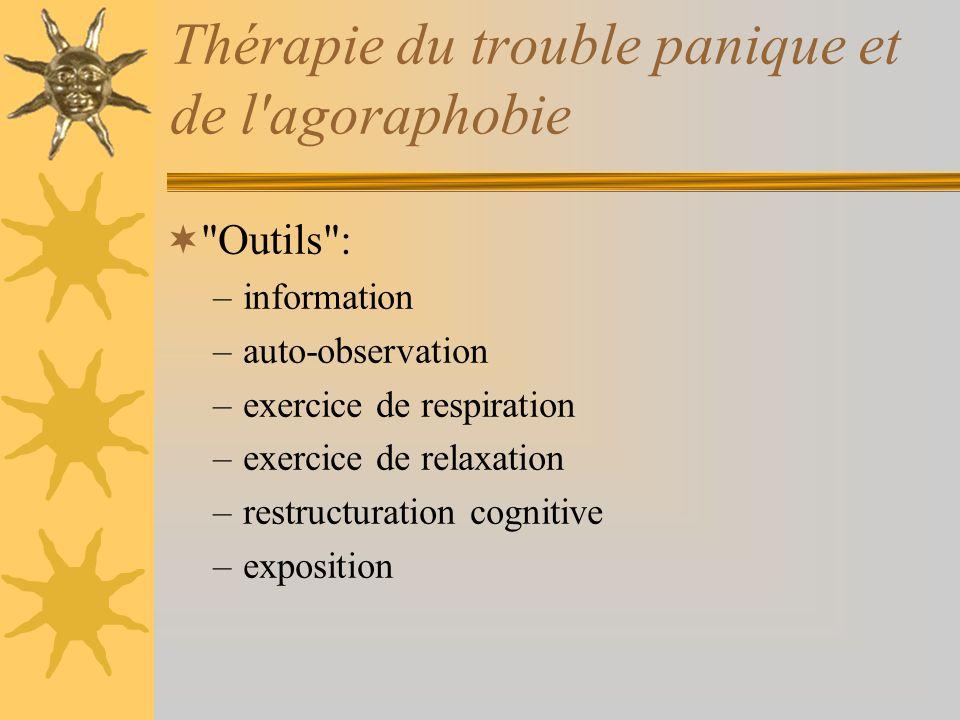 Thérapie du trouble panique et de l'agoraphobie