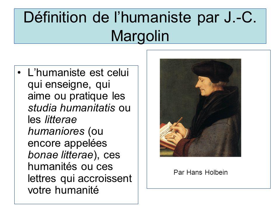 Définition de lhumaniste par J.-C.