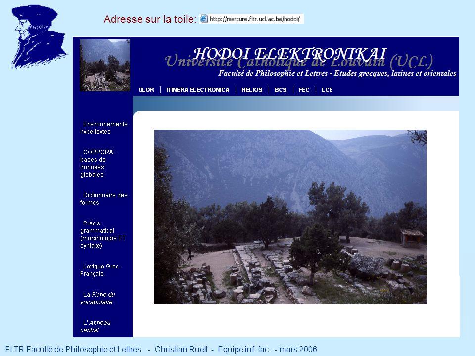 Adresse sur la toile: 11a. Environnements hypertextes (grecs)