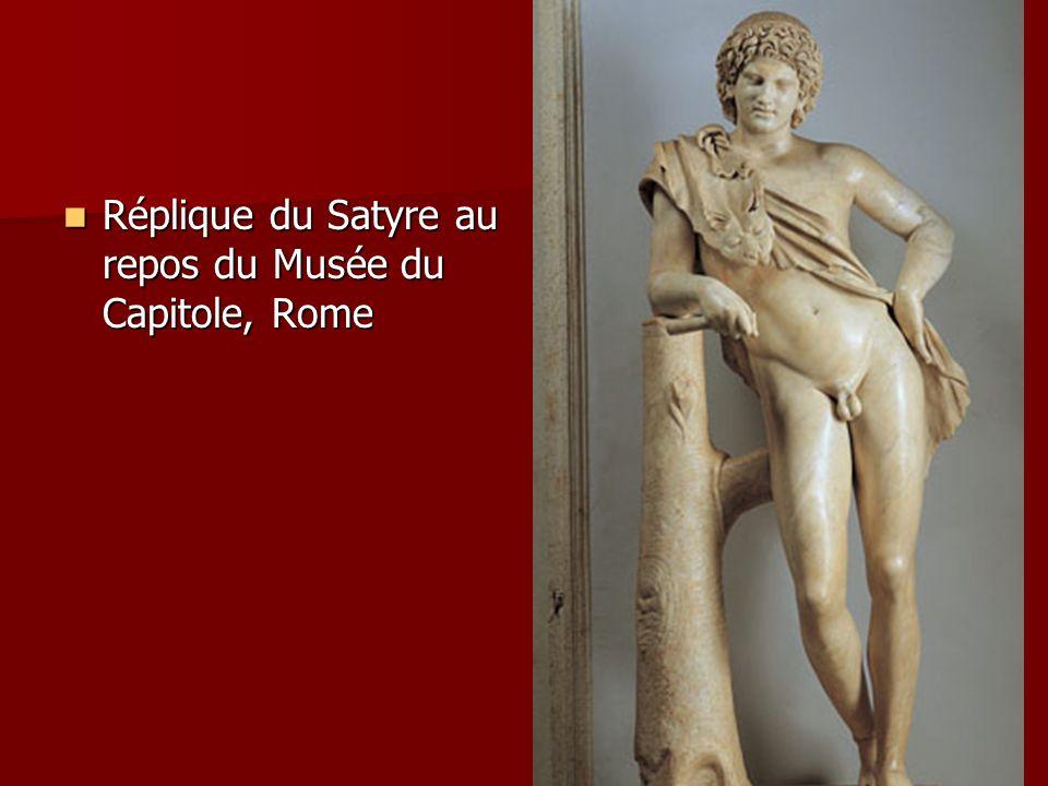 Réplique du Satyre au repos du Musée du Capitole, Rome Réplique du Satyre au repos du Musée du Capitole, Rome