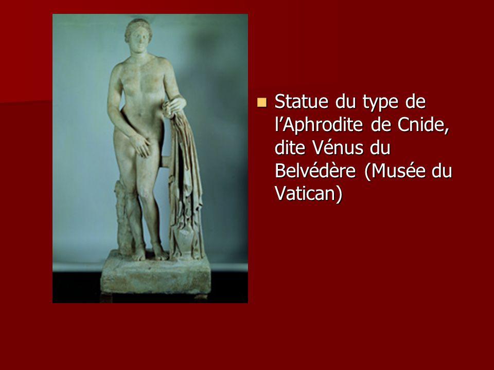 Statue du type de lAphrodite de Cnide, dite Vénus du Belvédère (Musée du Vatican) Statue du type de lAphrodite de Cnide, dite Vénus du Belvédère (Musé