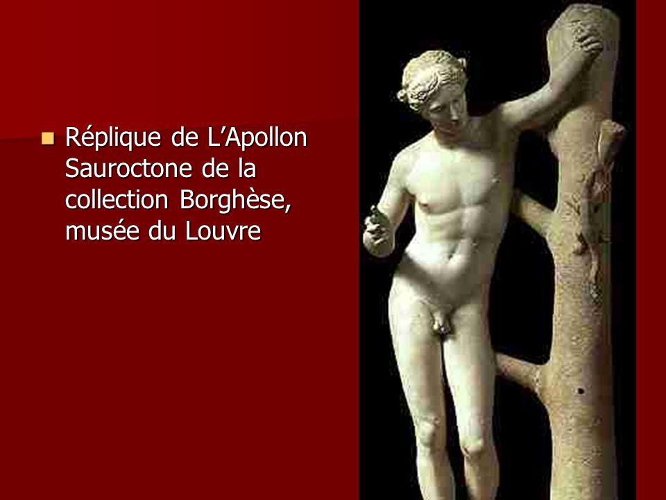 Réplique de LApollon Sauroctone de la collection Borghèse, musée du Louvre Réplique de LApollon Sauroctone de la collection Borghèse, musée du Louvre