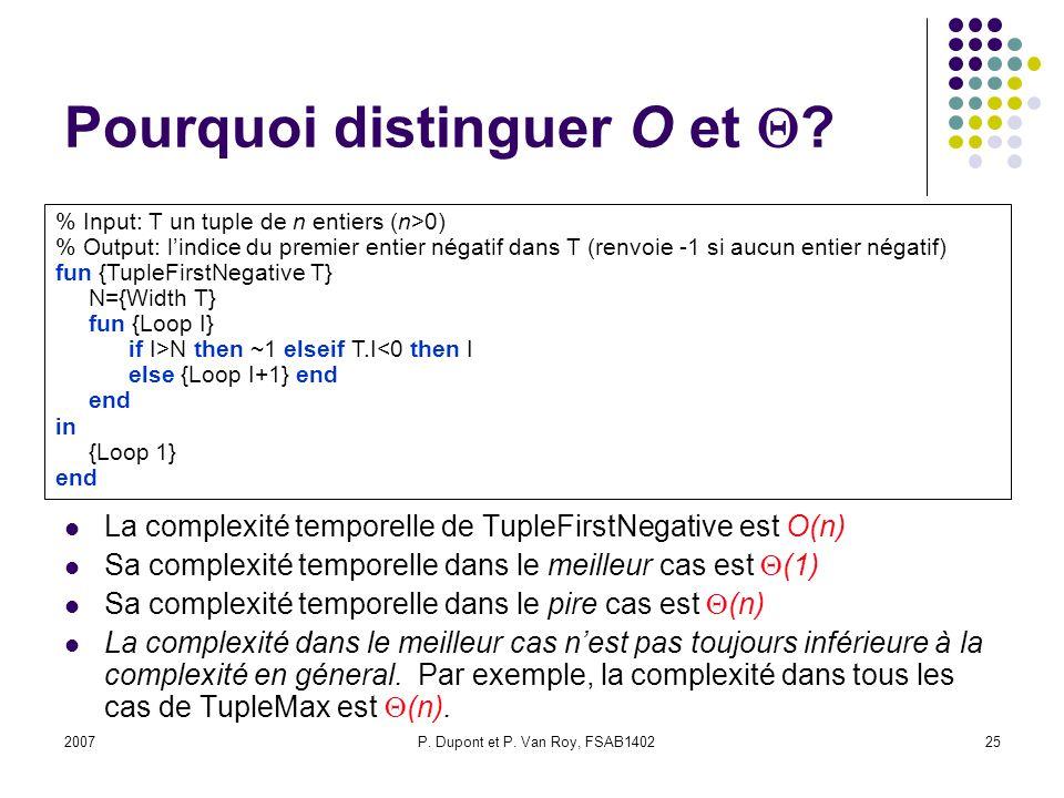 2007P.Dupont et P. Van Roy, FSAB140225 Pourquoi distinguer O et .