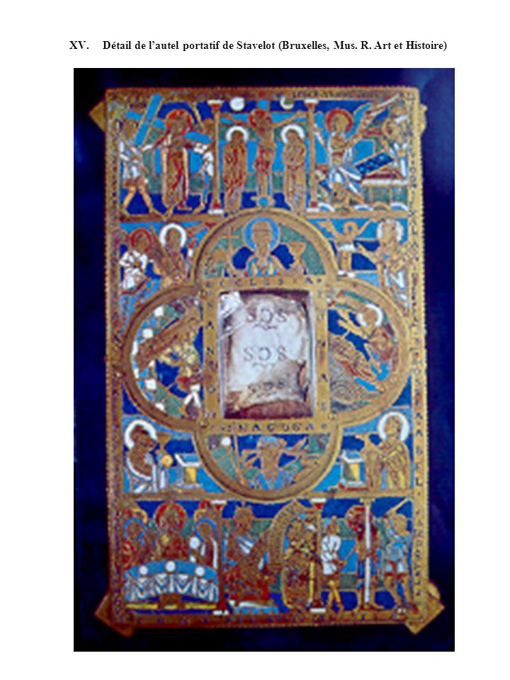 XV. Détail de lautel portatif de Stavelot (Bruxelles, Mus. R. Art et Histoire)