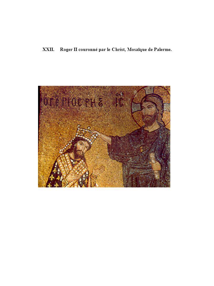 XXII. Roger II couronné par le Christ, Mosaïque de Palerme.