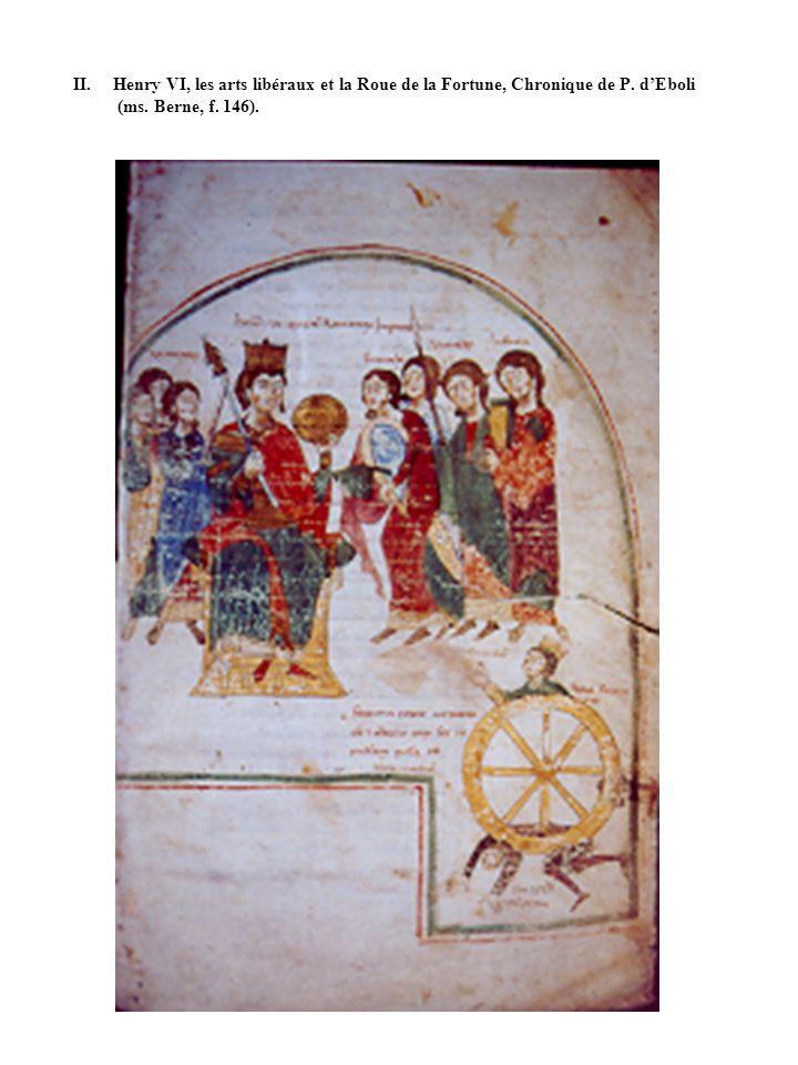 II. Henry VI, les arts libéraux et la Roue de la Fortune, Chronique de P. dEboli (ms. Berne, f. 146).