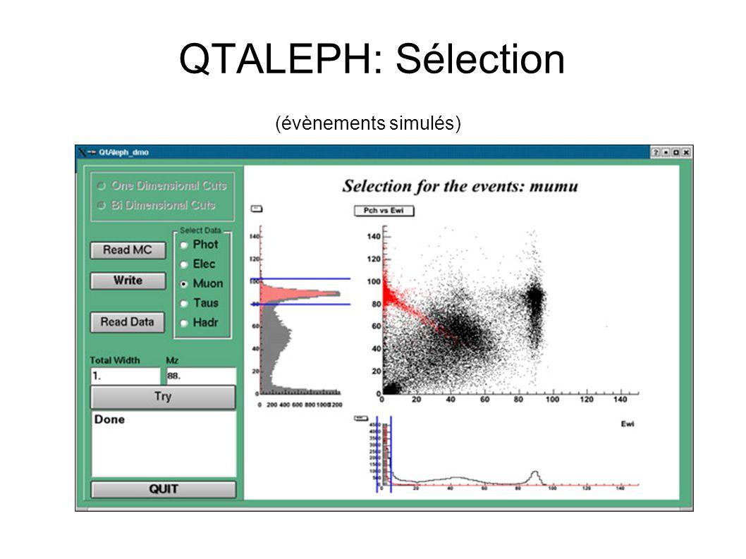 QTALEPH: Sélection (évènements simulés)
