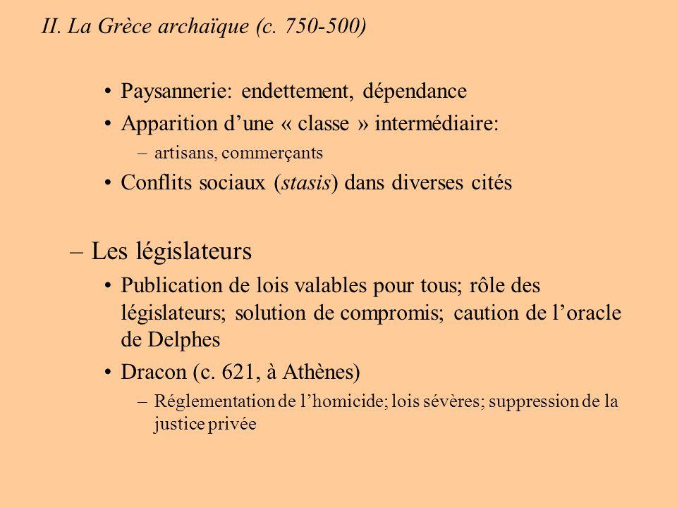 Deuxième partie : De lépoque classique à lAntiquité tardive (500 av.