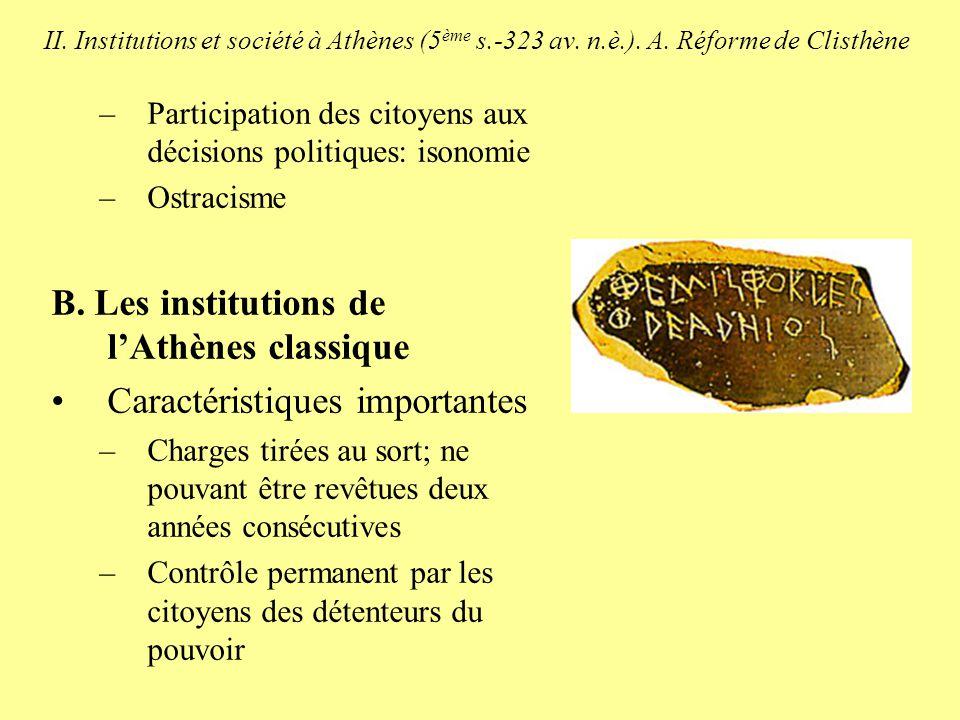 II.Institutions et société à Athènes (5 ème s.-323 av.