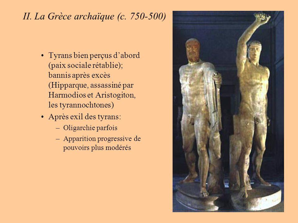 II.La Grèce archaïque (c. 750-500) F. Quelques innovations remarquables dans la Grèce du 6 ème s.