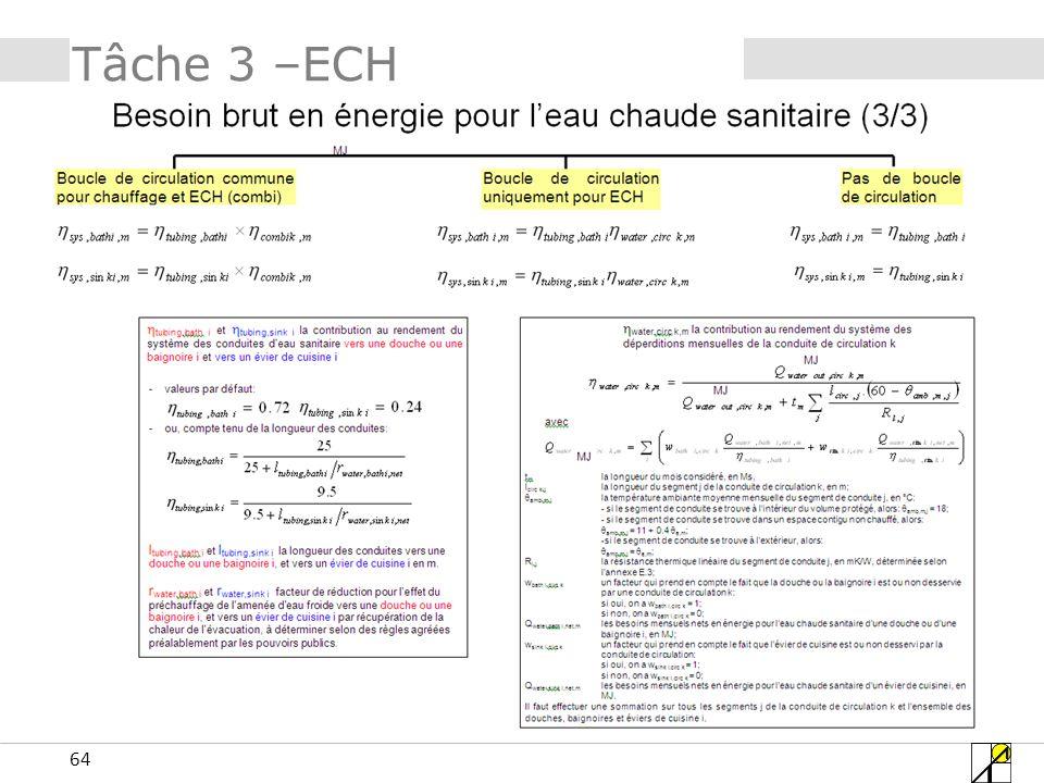 64 Tâche 3 –ECH