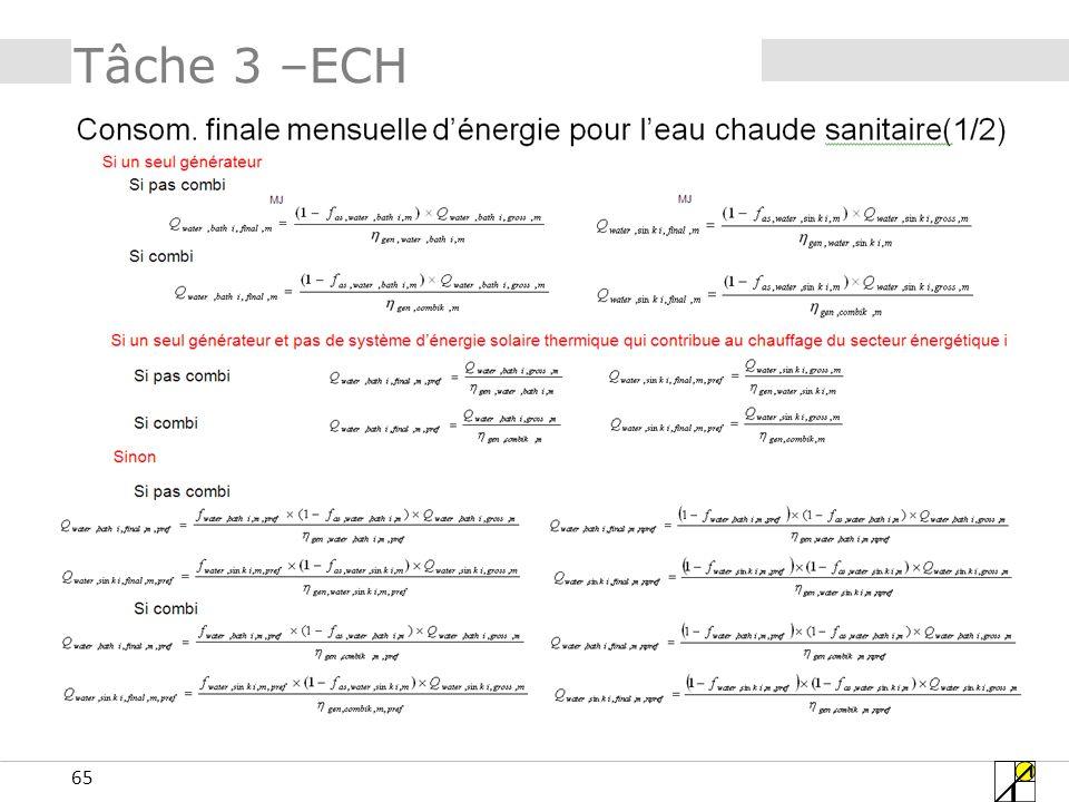 65 Tâche 3 –ECH