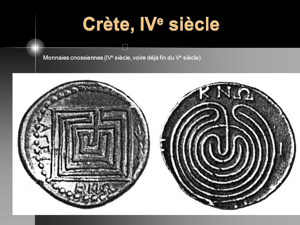 Crète, IV e siècle Monnaies cnossiennes (IV e siècle, voire déjà fin du V e siècle)