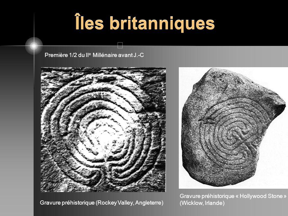 Îles britanniques Gravure préhistorique (Rockey Valley, Angleterre) Gravure préhistorique « Hollywood Stone » (Wicklow, Irlande) Première 1/2 du II e
