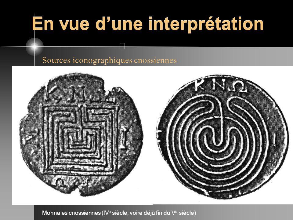 Sources iconographiques cnossiennes Monnaies cnossiennes (IV e siècle, voire déjà fin du V e siècle)
