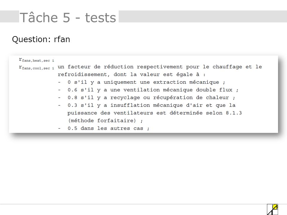 Question: rfan Tâche 5 - tests